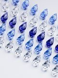 Shiny glass beads. Arranged in lines Stock Image