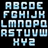 Shiny Glass Font Vector Image Stock Photos