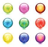 Shiny Glass Marbles Royalty Free Stock Photo