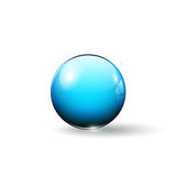 Shiny glass sphere. Vector illustration Stock Photos