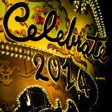 Shiny and Glitter Celebrate Signage. Shiny and Glitter Celebrate 2014 Signage Stock Photos