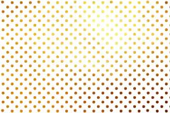 Shinning golden polka dots luxury creative digital abstract texture pattern background. Design element. Shiny / glittering gold polka dots modern dynamic royalty free stock photography