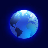 Shiny Globe of Blue Planet Earth Royalty Free Stock Photography