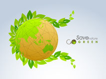 Shiny globe for Save Nature. Royalty Free Stock Images