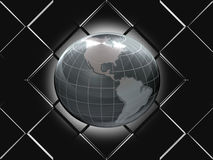 Shiny Globe. Template background wallpaper Royalty Free Stock Image