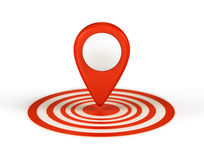 Shiny gloss red Map. Pointer icon royalty free illustration