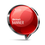 Shiny gloss red vector banner Royalty Free Stock Images