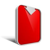 Shiny gloss red vector banner eps 10 Royalty Free Stock Photography