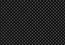 Shiny glossy black mosaic seamless background. Abstract geometric dark diamond style texture for design, cover work, wrapping  Royalty Free Stock Photography