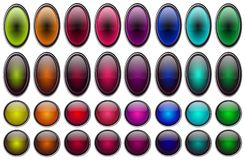 Shiny Glossy buttons set  Royalty Free Stock Images