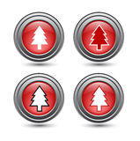 Shiny glossy christmas buttons Royalty Free Stock Image