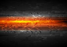 Shiny glow arrows orange background Stock Photography