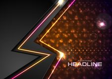 Shiny glowing abstract retro lights background vector illustration