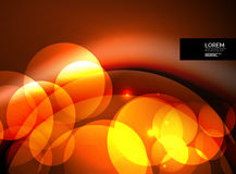 Shiny glowing glass circles, modern futuristic background template Royalty Free Stock Photo