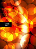 Shiny glowing glass circles, modern futuristic background template Royalty Free Stock Images