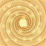 Shiny Gold Abstract Spiral Doodle Card Stock Photography