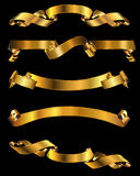 Shiny Gold Banners Royalty Free Stock Photos