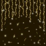Shiny gold and black background. New Year and Christmas holidays Royalty Free Stock Images