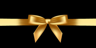 Shiny gold bow Stock Images