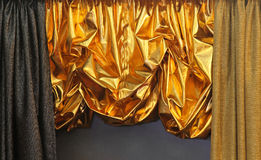 Gold curtain Stock Image