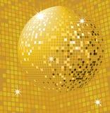 Shiny gold disco ball Royalty Free Stock Photography