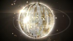 Shiny gold disco ball spinning around Royalty Free Stock Photo