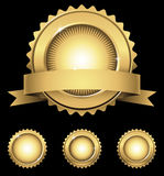 Shiny Gold Emblem & Seals Royalty Free Stock Images