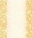 Shiny Gold Invitation Card Stock Image