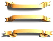 Shiny gold ribbon Stock Photography