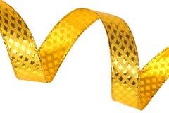 Shiny gold ribbon Royalty Free Stock Photos