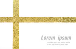 Shiny gold ribbon on white background Royalty Free Stock Photography