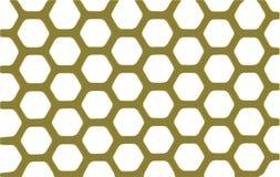 Shiny gold security grid - white background. Stock Image