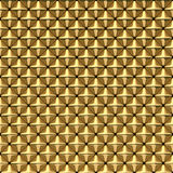 Shiny Gold Square Pyramids with smooth rounded edges - Square Background Royalty Free Stock Photos
