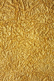 Shiny gold texture crumpled Royalty Free Stock Photo
