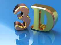 Shiny golden 3d word Royalty Free Stock Photo