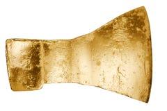 Shiny golden ax Stock Photos