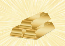 Shiny golden bars Royalty Free Stock Images