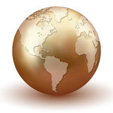 Shiny Golden Earth Royalty Free Stock Photos