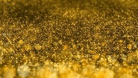 Shiny golden glitter Christmas VJ seamless loop abstract motion background