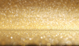Shiny golden glitter texture background. Stock Photography