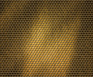 Golden Hex Metal Background Royalty Free Stock Photo