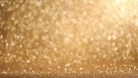 Shiny golden lights background stock video footage