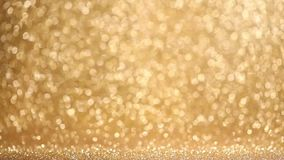 Shiny golden lights background stock video