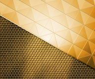 Golden Metal Background Stock Images