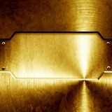 Shiny golden plate Stock Photos