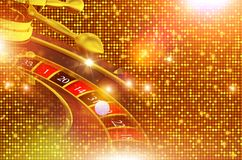 Shiny Golden Roulette Backdrop Royalty Free Stock Photo
