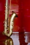 Saxophone brass music instrument Royalty Free Stock Image