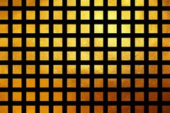 Square pattern golden texture shiny luxury abstract background. Shiny golden square / cube grid pattern for print and design. Creative abstract Stock Image