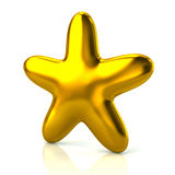 Shiny golden star Royalty Free Stock Images