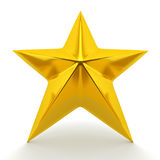 Shiny golden star. 3d rendering Royalty Free Stock Photography